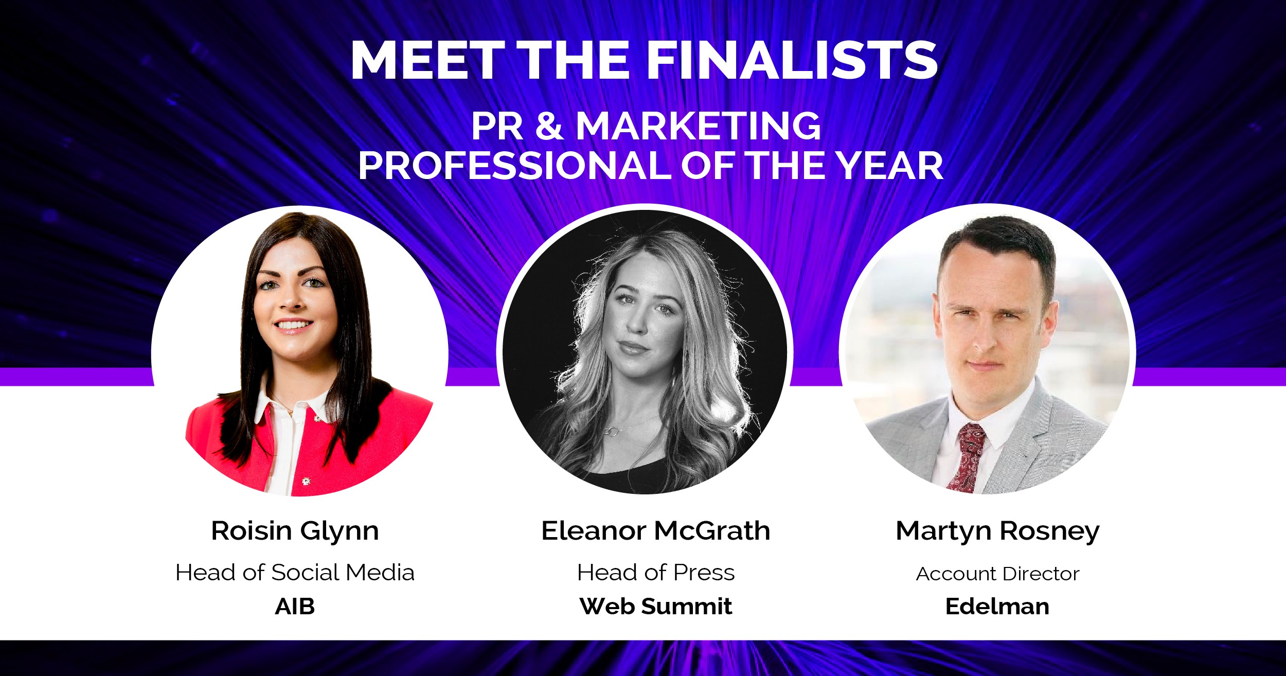 Irish Early Career Awards PR & Marketing Finalists